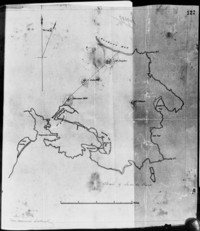 Sketch of the South East Corner of Vancouvers Island A sketchmap enclosed with Douglas to Earl Grey, 25 June 1852, No. 5, 9099, CO 305/3, p. 118