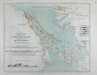 Geological sketch of the south east of Vancouver Island and part of the coast of the Gulf of Georgia. South east of Vancouver Island and part of the coast of the Gulf of Georgia.