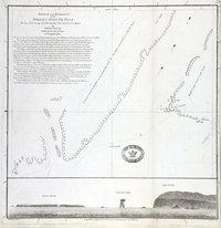 Sketch of the entrance of the Strait of Juan de Fuca : Lat. 48 37' N. Long. 124 54' W. : Variation observed 19 Entrance of the Strait of Juan de Fuca