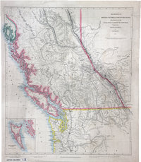 Provinces of British Columbia and Vancouver Island; with portions of the United States and Hudson's Bay Territories.