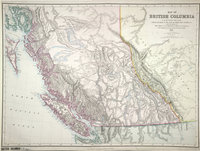 Map of British Columbia to the 56th Parallel North Latitude. British Columbia to the 56th Parallel North Latitude.