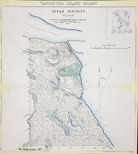 Cedar District 1859 (Rough sketch). Vancouver Island Colony. Sketch Maps of Districts.