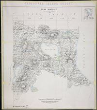 Lake District 1859. Vancouver Island Colony. Sketch Maps of Districts.