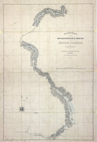 Plan of Route from New Westminster to Fountain in British Columbia, by Lieut. H. S. Palmer, R.E., 1859. 4 miles to 1 inch. Author, Publisher, &c.: War Office, London. [British Columbia, 1859]