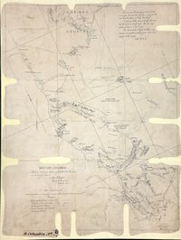 Sketch of trail from Lytton and Lillooet to Alexandria and the Cariboo District.