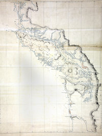 Map of Vancouver Island and the adjacent coast from King's Island to the mouth of the Columbia River