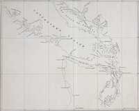 Map of part of Vancouver's Island, the Gulf of Georgia and supposed Strait of Juan de Fuca Vancouver Island