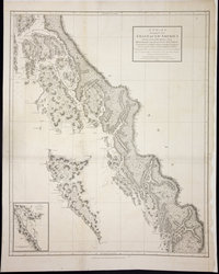 Chart shewing part of the Coast of N.W. America with the tracks of His Majesty's Sloop Discovery and Armed Tender Chatham, Commanded by George Vancouver Esq. and prepared under his immediate inspection by Lieut. Joseph Baker in which the continental shore has been correctly traced and determined from lat. 51 45ʹ N. and long. 232 08ʹ E. to lat. 57 30ʹ N. and long. 226 44ʹ E. at the periods shewn by the tracks ; Warner, sculp. Voyage of discovery to the North Pacific Ocean, and round the world.