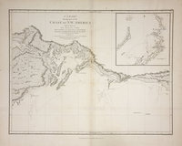 Chart shewing part of the coast of N.W. America, with the tracks of His Majesty's sloop Discovery and armed tender Chatham / ǂc commanded by George Vancouver, esqr. and prepared under his immediate inspection by Lieut. Joseph Baker, in which the continental shore has been correctly traced and determined from latd. 59⁰.45ʹ N. and longd. 219⁰.30ʹ E. to latd. 59⁰.56ʹ N. and longd. 212⁰.08ʹ E. at the periods shewn by the track ; engraved by T. Foot. Voyage of discovery to the North Pacific Ocean, and round the world.