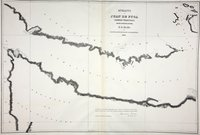San Juan Boundary Arbitration atlas [map 3]. Straits of Juan de Fuca, Oregon Territory, from surveys of the U.S. Ex. Ex. and Spanish and English authorities.