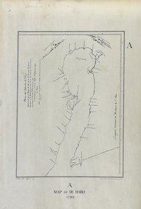 San Juan boundary dispute maps [map A]. Map of de Haro 1790.