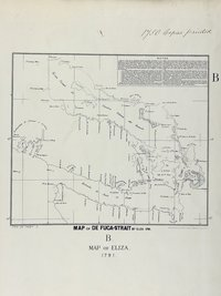 San Juan boundary dispute maps [map B]. Map of de Fuca Strait, 1791.