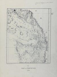 San Juan boundary dispute maps [map C]. Map of Vancouver, 1798.