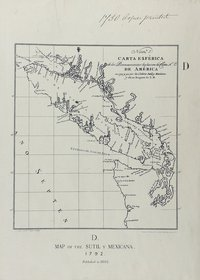 San Juan boundary dispute maps [map D]. Map of the Sutil, y Mexicana, 1792.