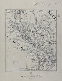 San Juan boundary dispute maps [map E]. Map of Duflot de Mofras, 1844.
