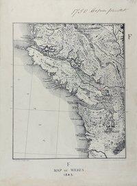 San Juan boundary dispute maps [map F].    Map of Wilkes, 1845.