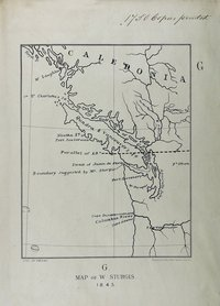 San Juan boundary dispute maps [map G].    Map of W. Sturgis, 1845.