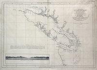 San Juan boundary dispute maps [map L].    Carta esferica de los reconocimientos hechos en 1792 en la costa n.o. de America para examinar la entrada de Juan de Fuca, y la internacion de sus canales navagables.