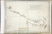 San Juan Water Boundary (Arbitration) : list of maps sent to Admiral Prevost at Berlin on the 12th June 1872 [map 10] Carta reducida que comprehende parte de la costa septentrional de California; corregida y enmendada hasta la boca del estrecho de Fuca