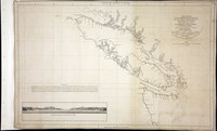 San Juan Water Boundary (Arbitration) : list of maps sent to Admiral Prevost at Berlin on the 12th June 1872 [map 14] Carta esferica de los reconocimientos hechos en 1792 en la costa n.o. de America para examinar le entrada de Juan de Fuca, y la internacion de sus canales navegables