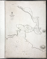 San Juan Water Boundary (Arbitration) : list of maps sent to Admiral Prevost at Berlin on the 12th June 1872 [map 24] Victoria Harbour