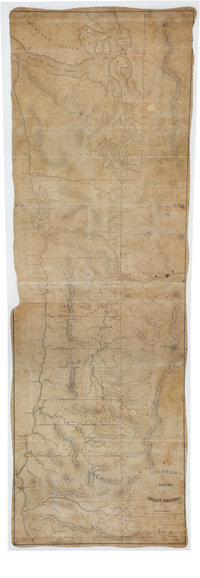 San Juan Water Boundary (Arbitration) : list of maps sent to Admiral Prevost at Berlin on the 12th June 1872 [map 30] Diagram of a portion of Oregon Territory