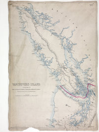 San Juan Water Boundary (Arbitration) : list of maps sent to Admiral Prevost at Berlin on the 12th June 1872 [map 34] Vancouvers Island