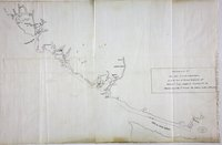 Vancouver Island: Chart of HMS Scout 9-12 August 1866 showing her grounding off Nootka Island while 'conveying H.E. the Governor round the Id. to visit the Indian & other settlements'.