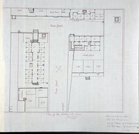 Plan of New Westminster Gaol Jany. 1871. Plan of New Westminster Jail, Jan. 1871.