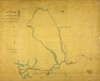 Sketch map of part of British Columbia shewing trails and routes of communication.