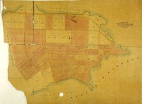 Map of the subdivisions of Beckley Farm and the Lands South and West of James Bay, Victoria, Vancouver Island. 7th. January 1863.  Beckley Farm