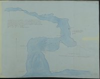 Sketch of Cammusan Harbour south end of Vancouver's Island, Straits of De Fuca shewing position of Fort Victoria & soundings. Cammusan Harbour (Victoria Harbour), British Columbia.