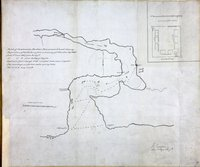 Sketch of Cammusan Harbour, Vancouvers Island, showing the position of Fort Victoria.  Cammusan Harbour (Victoria Harbour), British Columbia.