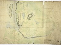 Eye Sketch of the Plains &c about Nisqually at the Head of Pugets Sound.  Sketch of Nisqually and adjacent Plains on Puget's Sound.