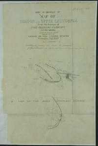 """Copy of Section of """"""""Map of Oregon and Upper California From the Surveys of John Charles Fremont and other Authorities.  Map of Oregon and Upper California From the Surveys of John Charles Fremont And other Authorities."""