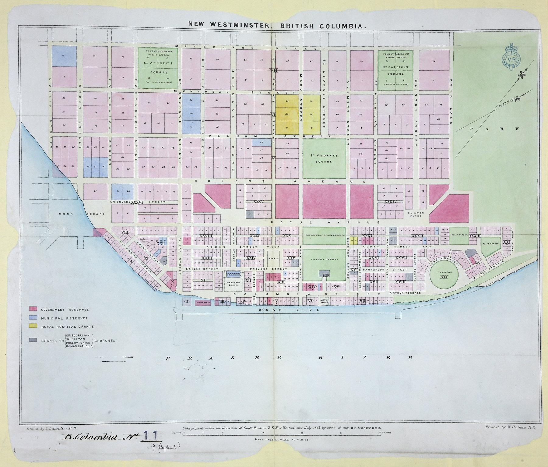 New Westminster, British Columbia, 1862.