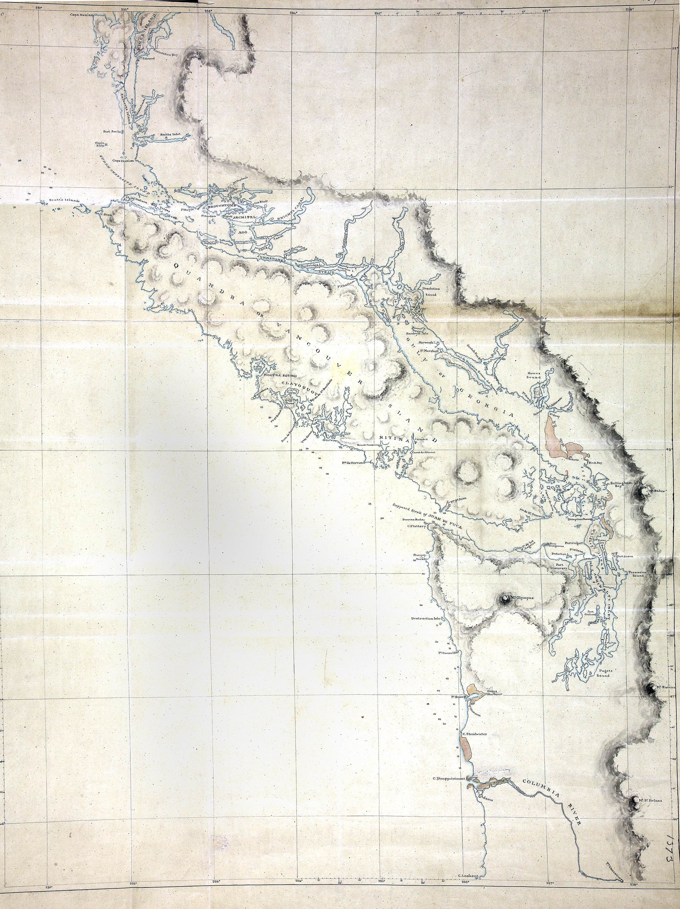 Map of Vancouver Island and the adjacent coast from King\'s Island to ...