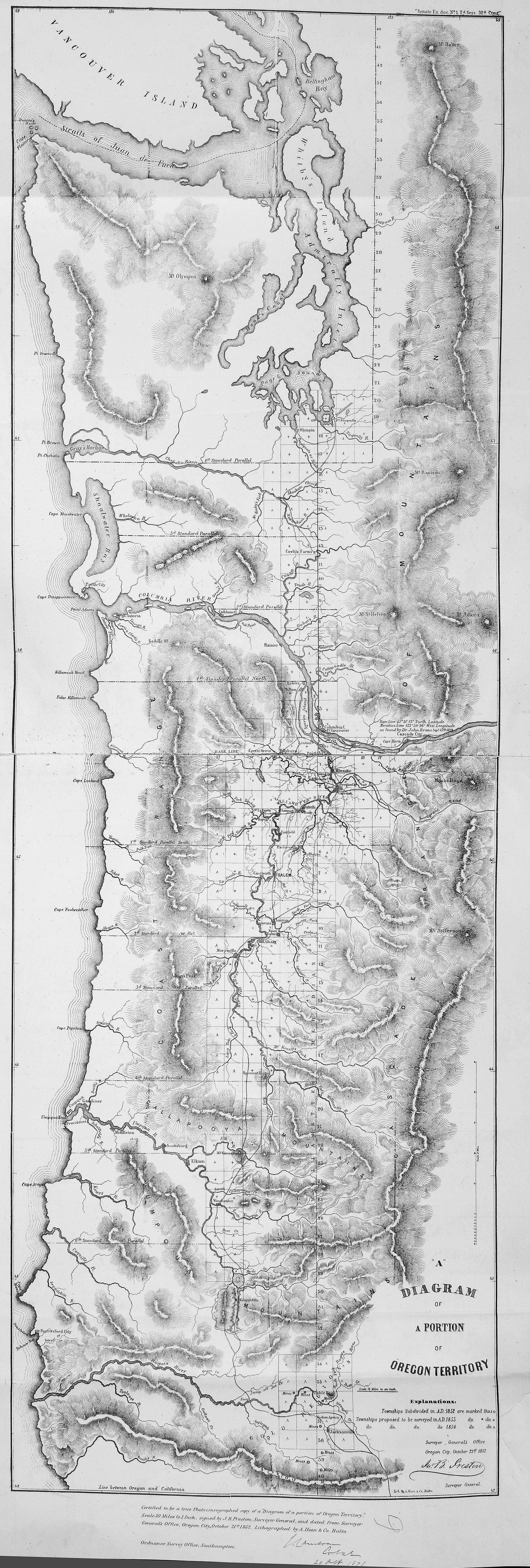 Diagram of a Portion of Oregon Territory