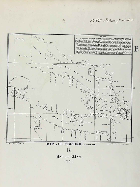 San Juan boundary dispute maps [map B].