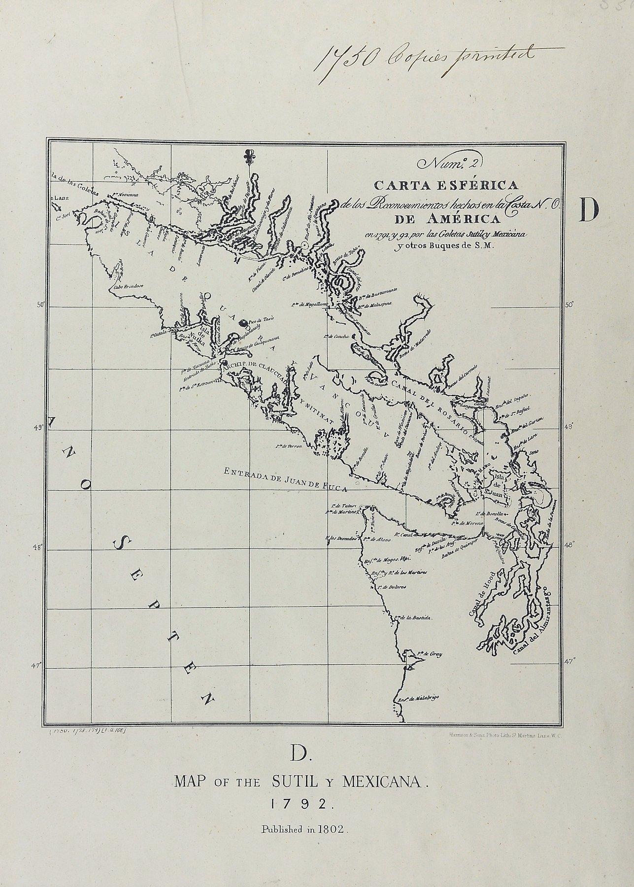 San Juan boundary dispute maps [map D].