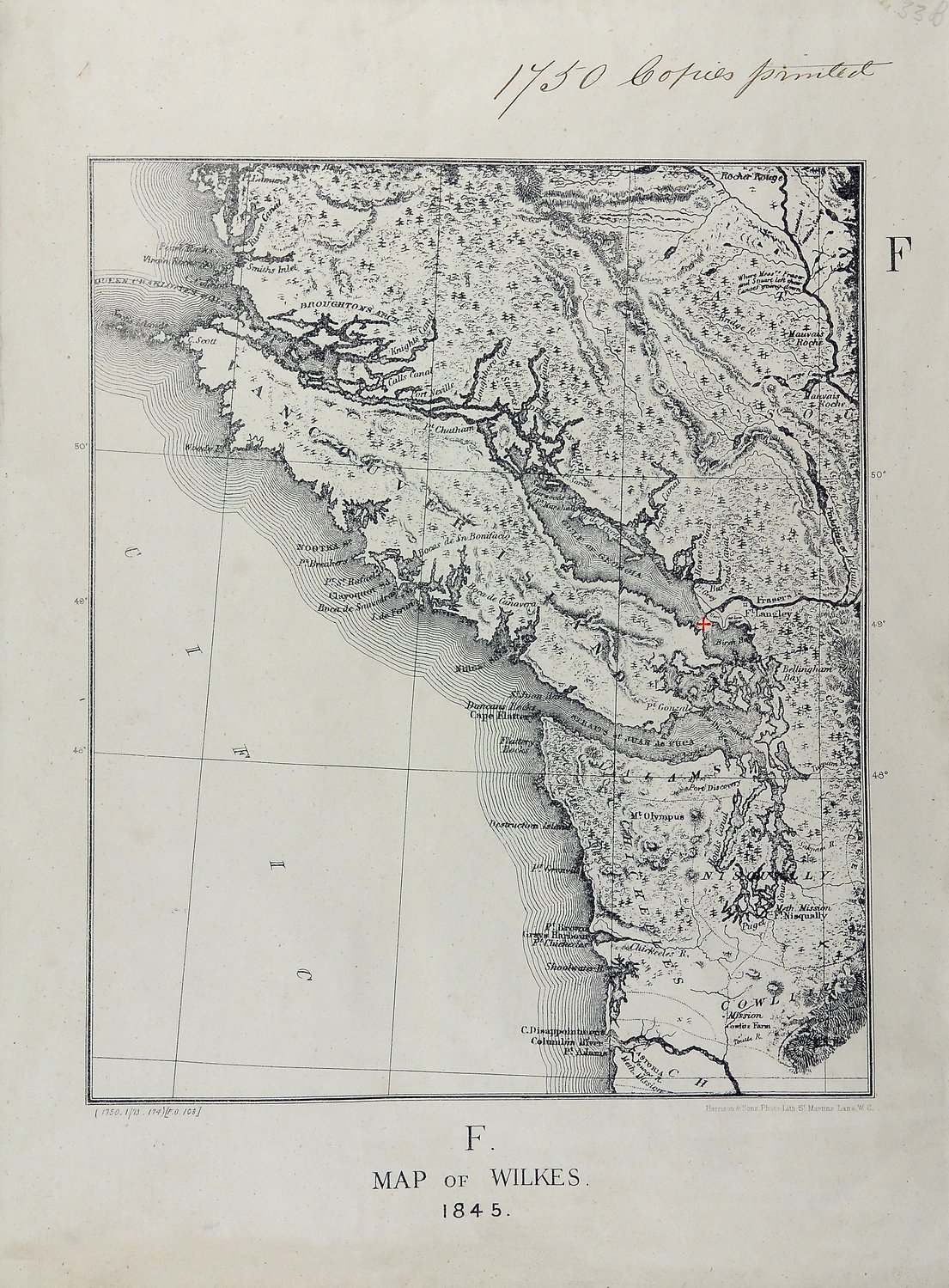 San Juan boundary dispute maps [map F].