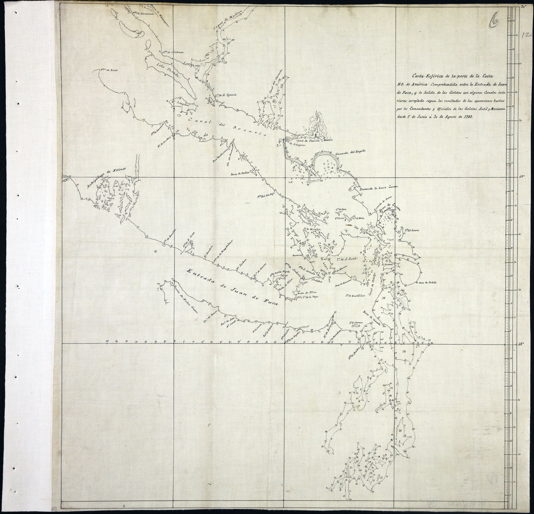 San Juan Water Boundary (Arbitration) : list of maps sent to Admiral Prevost at Berlin on the 12th June 1872 [map 13]