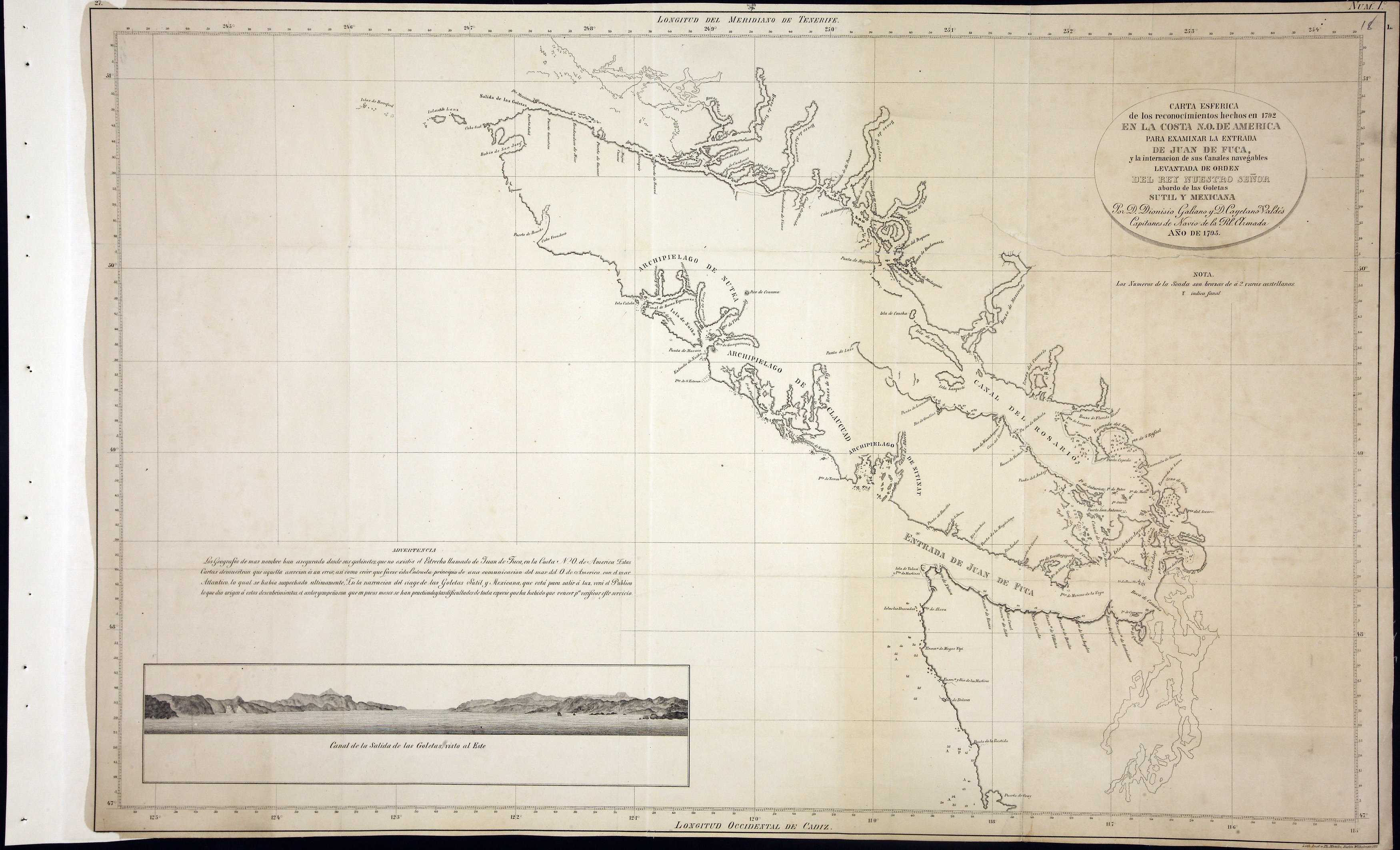 San Juan Water Boundary (Arbitration) : list of maps sent to Admiral Prevost at Berlin on the 12th June 1872 [map 14]