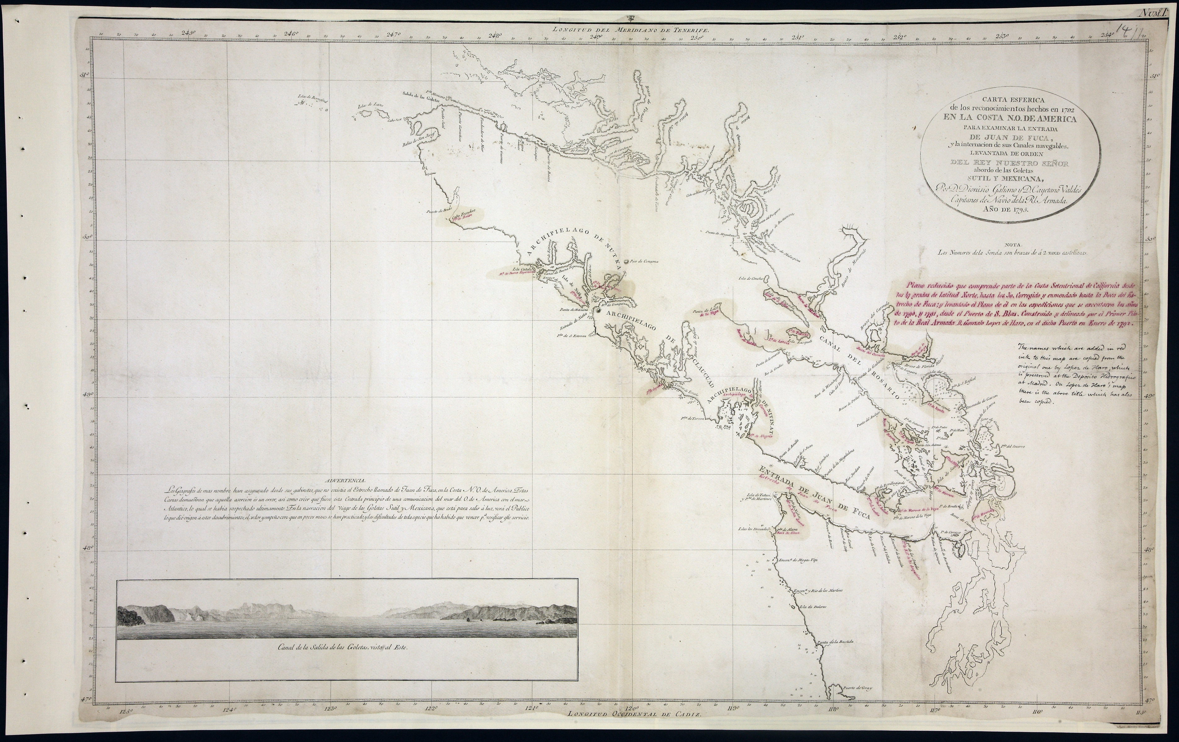 San Juan Water Boundary (Arbitration) : list of maps sent to Admiral Prevost at Berlin on the 12th June 1872 [map 15]