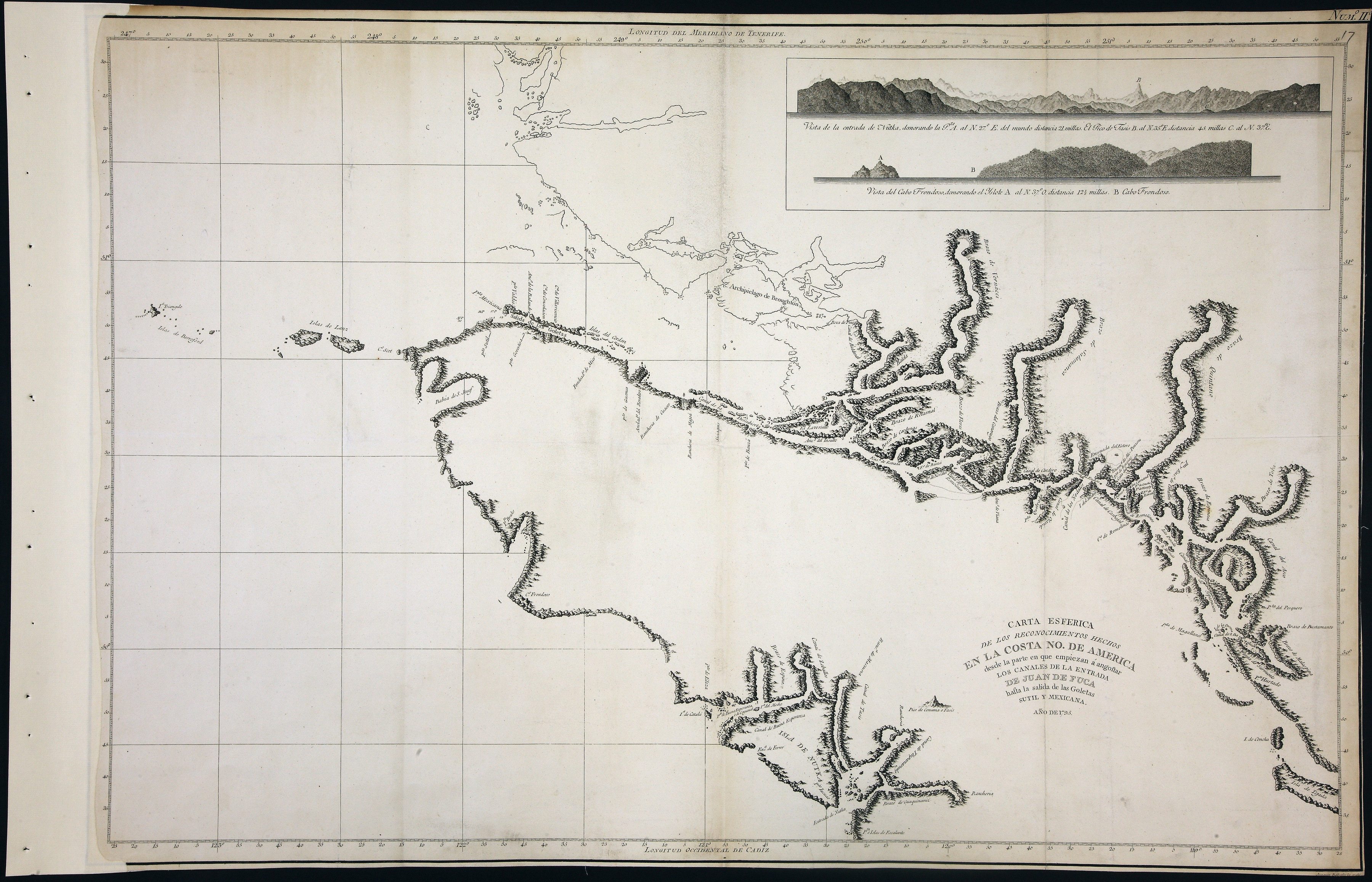 San Juan Water Boundary (Arbitration) : list of maps sent to Admiral Prevost at Berlin on the 12th June 1872 [map 16]