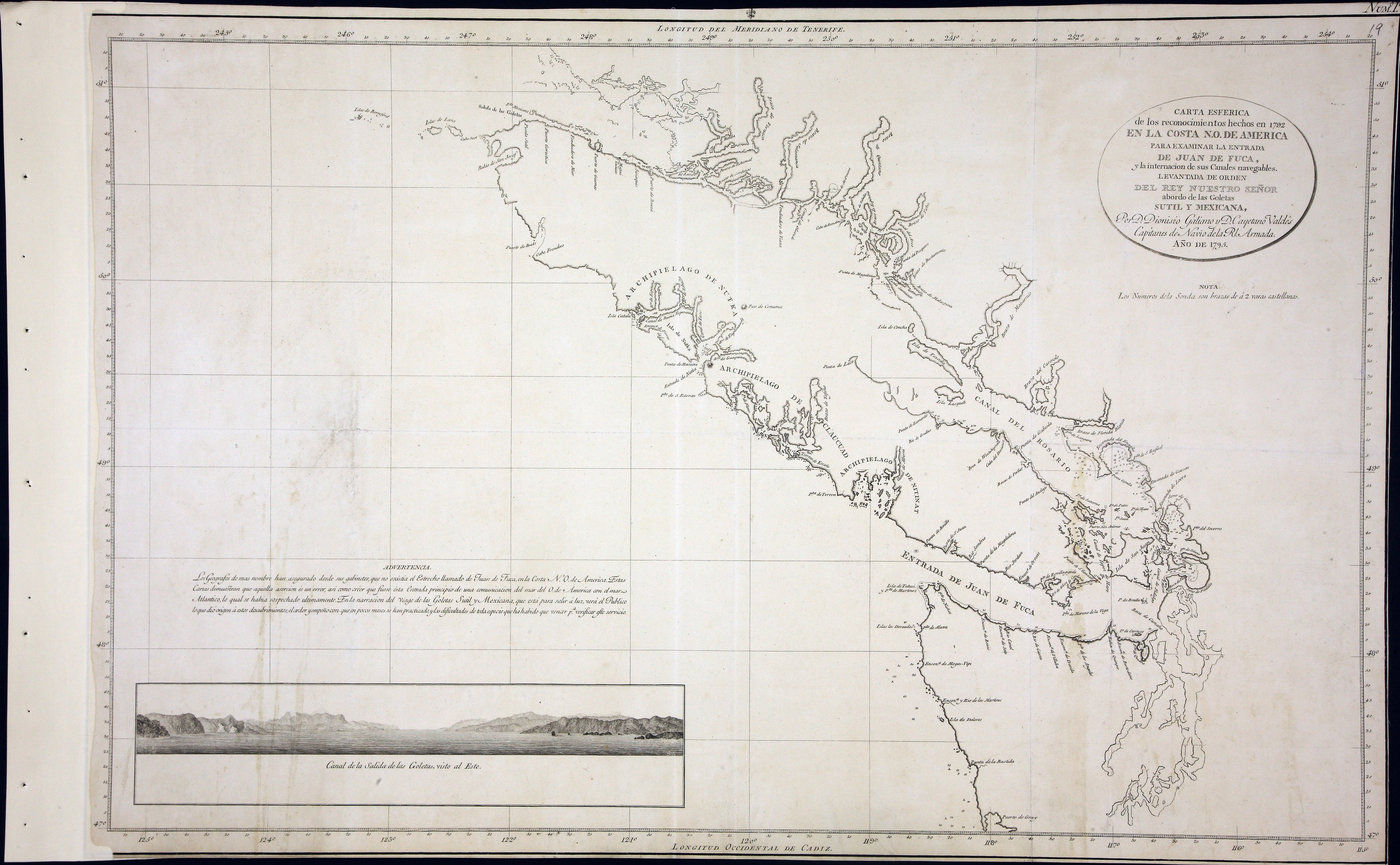 San Juan Water Boundary (Arbitration) : list of maps sent to Admiral Prevost at Berlin on the 12th June 1872 [map 17]