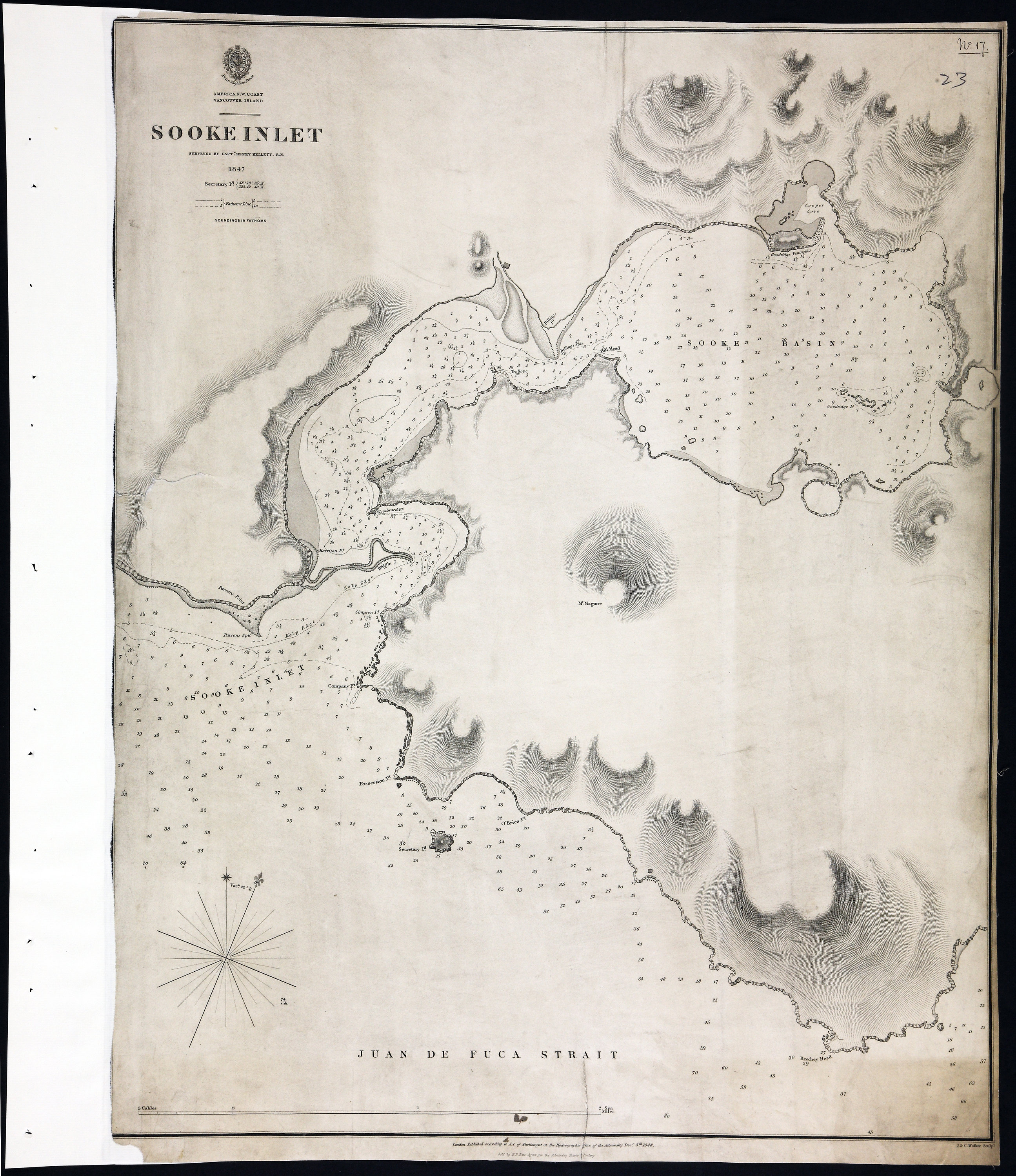 San Juan Water Boundary (Arbitration) : list of maps sent to Admiral Prevost at Berlin on the 12th June 1872 [map 22]