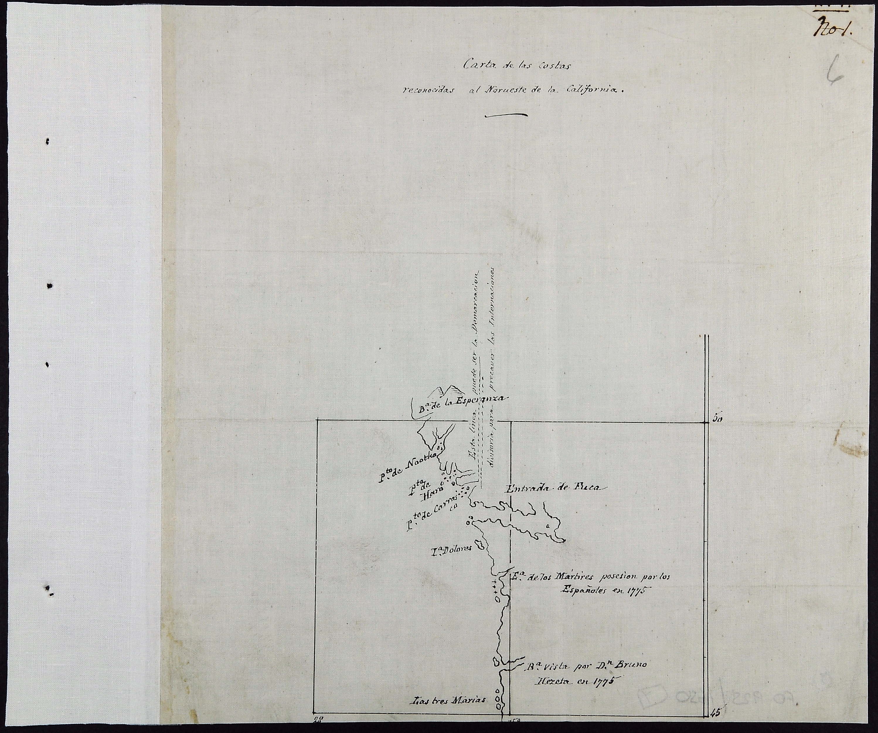 San Juan Water Boundary (Arbitration) : list of maps sent to Admiral Prevost at Berlin on the 12th June 1872 [map 7]