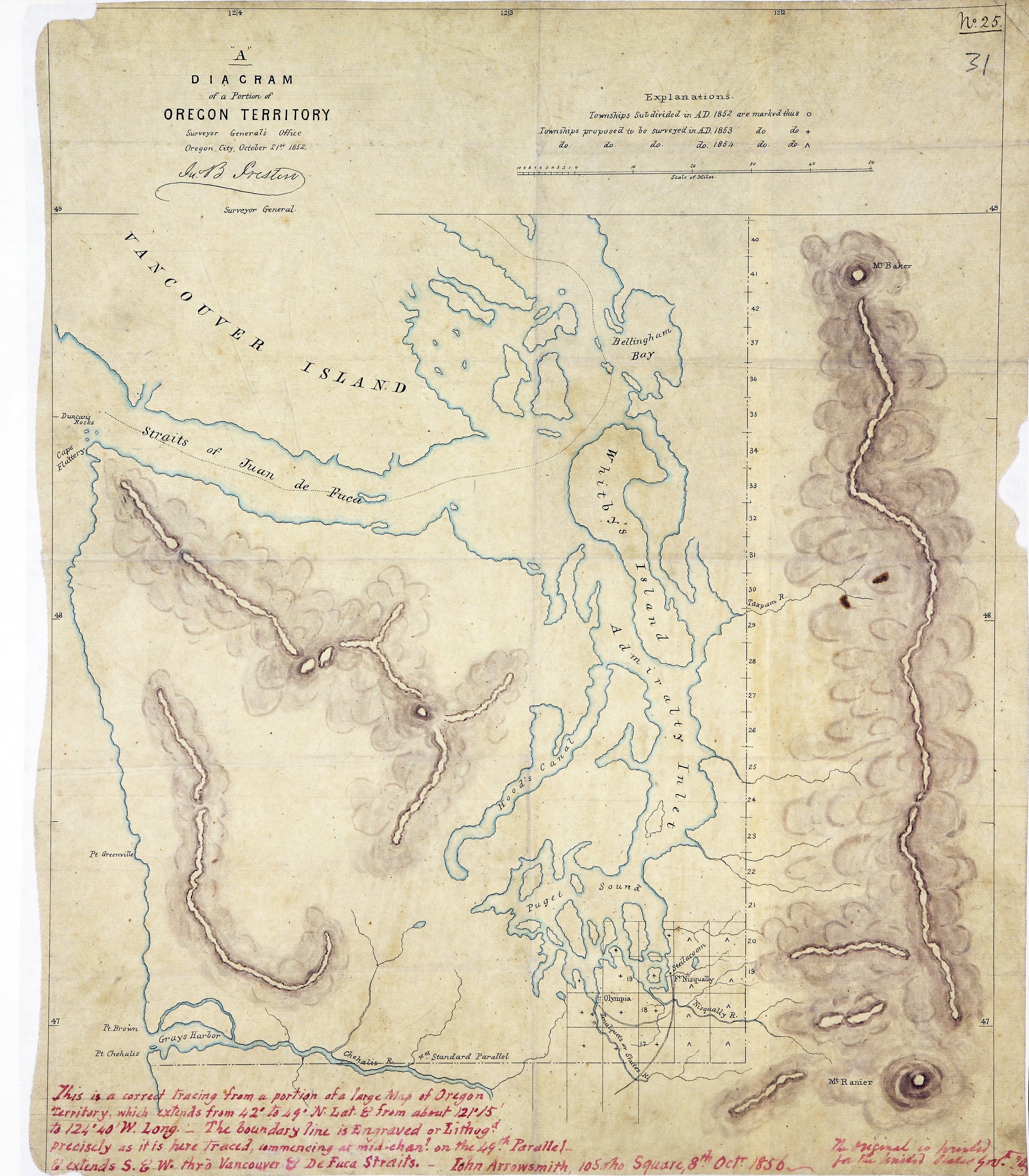 San Juan Water Boundary (Arbitration) : list of maps sent to Admiral Prevost at Berlin on the 12th June 1872 [map 30]