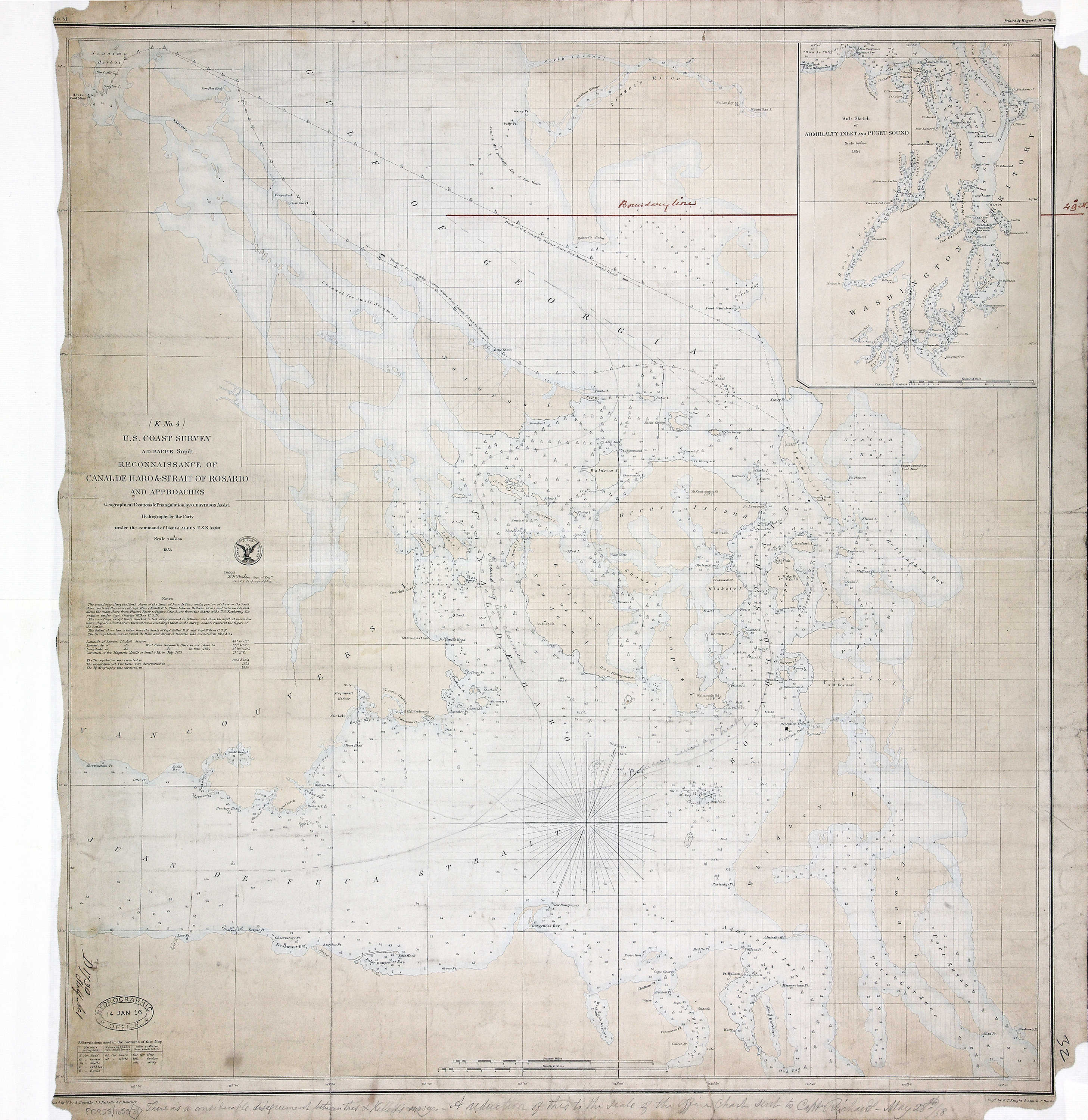 San Juan Water Boundary (Arbitration) : list of maps sent to Admiral Prevost at Berlin on the 12th June 1872 [map 31]